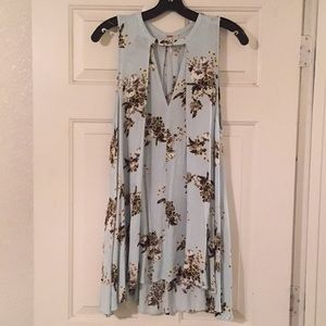Free People Floral Sleeveless Tunic